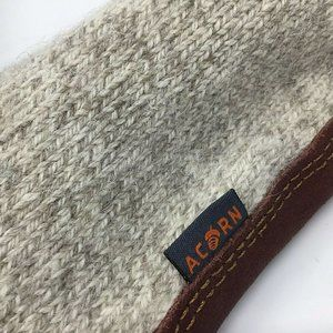 Acorn~Ragg Wool~Slippers~Slipper Socks~Leather~